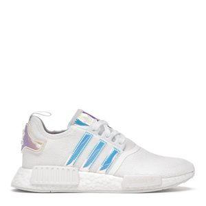 "*NEW* Adidas NMD R1 ""White Iridescent"" (Sz 7.5)"